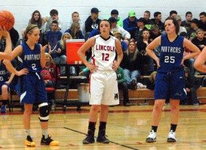 On Dec. 19 the Lincoln County High girls basketball team hosted the Pahranagat Valley Lady Panthers in the Rick Phillips Gym. The Lady Panthers won the tip