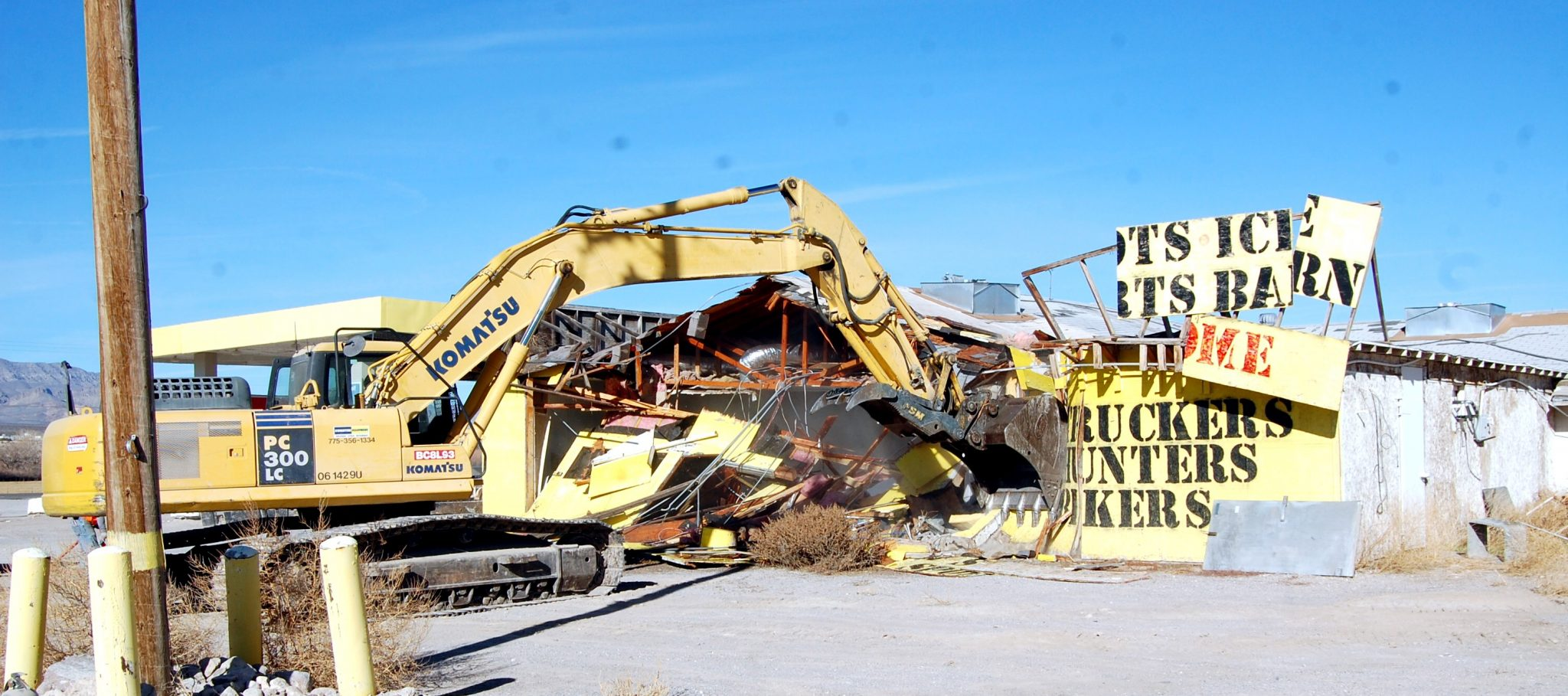One year after closing, Alamo Truck Stop demolished