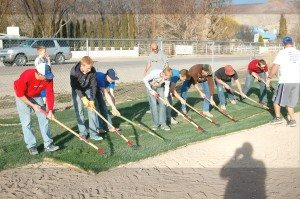 A tip from a longtime friend has resulted in Pahranagat Valley High School getting some new sod to put around the north end of the new football field at the school.