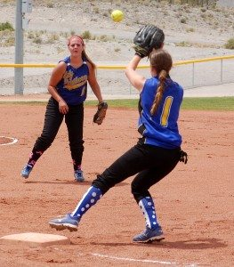 Kennedy Huntsman tossed a five-inning one-hitter and struck out four Saturday to lead host Pahranagat Valley's softball team to a 15-2 win over Indian