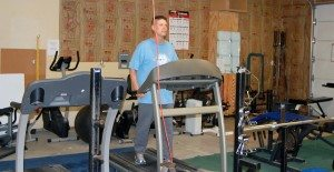 Dave Maxwell Brian Wood works out on a piece of gym equipment at the Body by Summer Fitness Center in Alamo. Operated by Summer Pearce, the center is open 5 a.m. to 9 p.m., seven days a week. Membership is $15 a month.