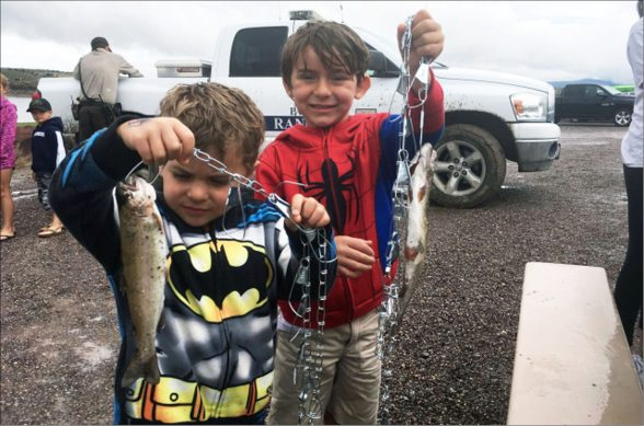 Big Turnout For Kids Fishing Derby