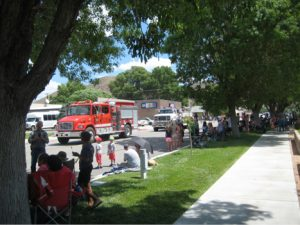 Rose Lanigan - A crowd gathers in Caliente Monday morning to watch the annual Fourth of July Parade