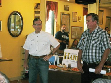 Senate Candidate Holds Pair of Meet-and-Greets