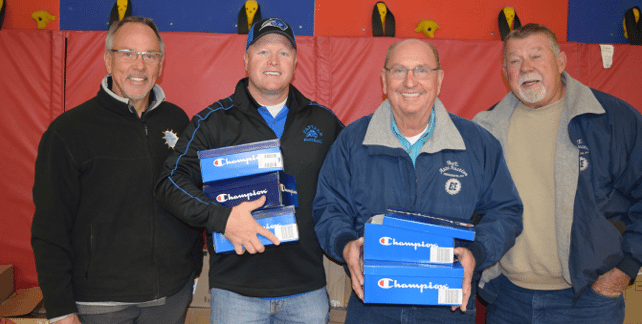 Elementary School Kids Get Yearly Gifts of Shoes, Toys from Henderson Couple