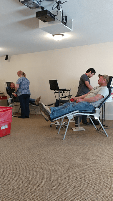Residents donate blood at Caliente church