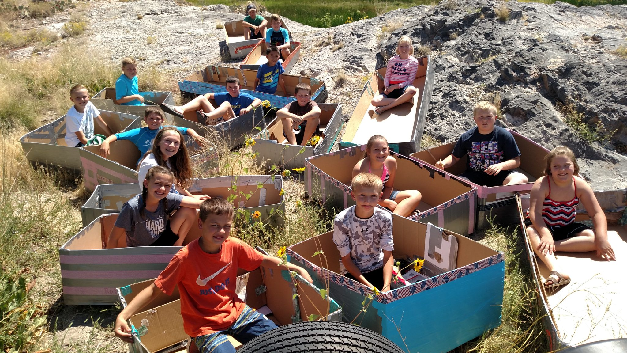 Students Test their Skills at Sixth Grade Boat Float