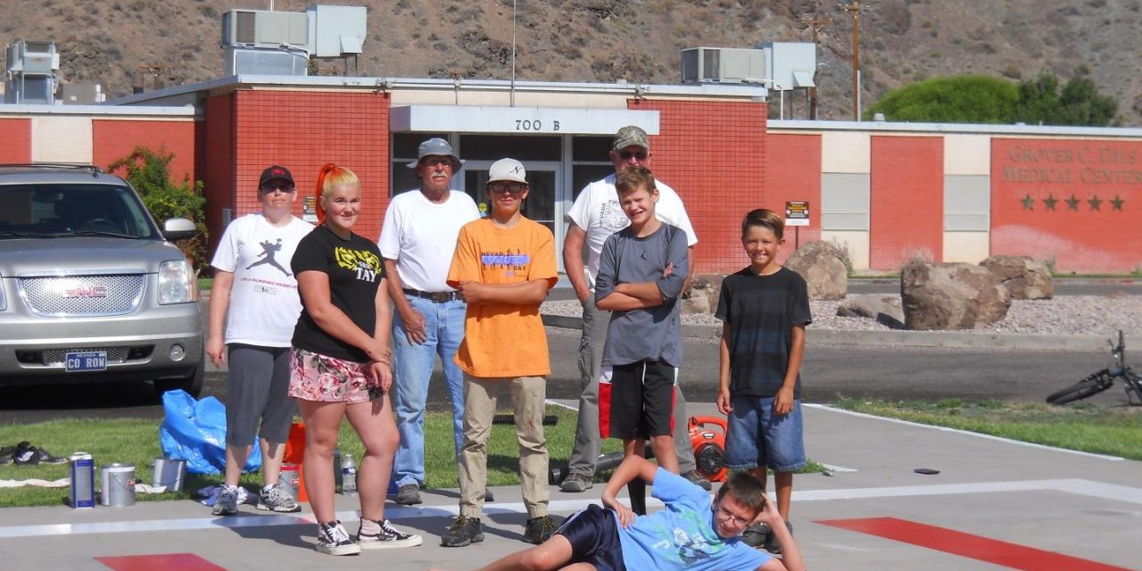 4-H Rifle Club Repaints Helicopter Pad